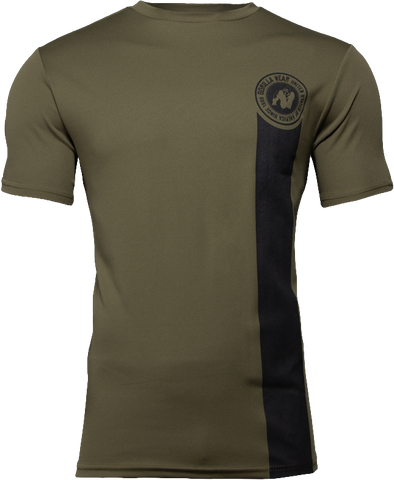Gorilla Wear Forbes T-Shirt - Army Green - gymstop