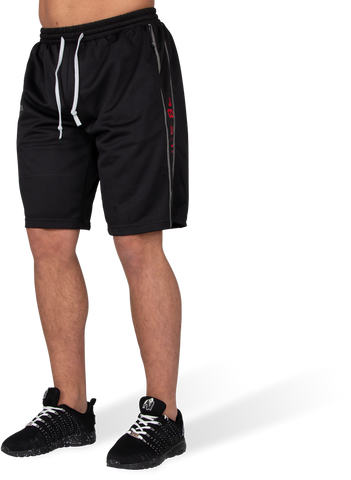 Gorilla Wear Functional Mesh Shorts Black/Red - gymstop