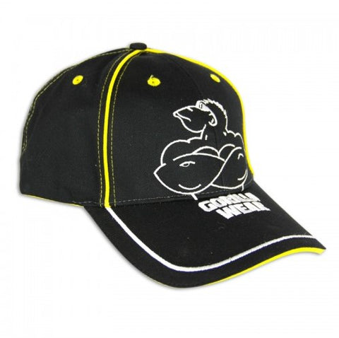 Gorilla Wear Muscle Monkey Cap - Black/Yellow - gymstop