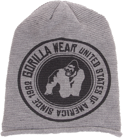 Gorilla Wear Oxford Beanie - Grey - gymstop