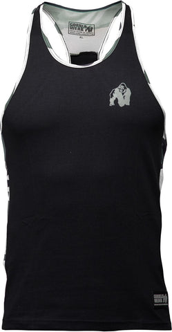 Gorilla Wear Sacramento Camo Mesh Tank Top - Black/White - gymstop
