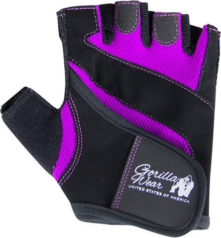 Gorilla Wear Womens Fitness Gloves - Black/Purple - gymstop