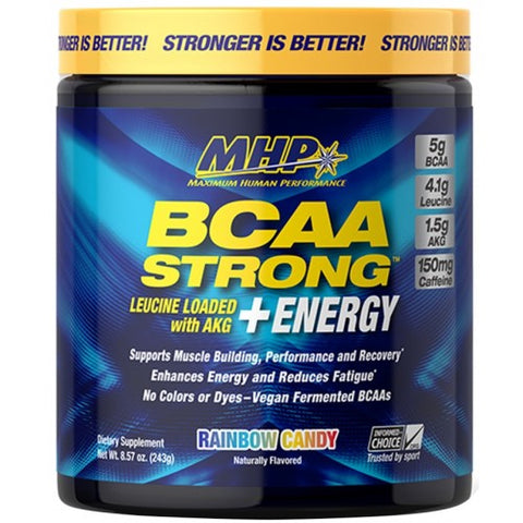 MHP BCAA Strong + Energy, Rainbow Candy - 243 grams - gymstop