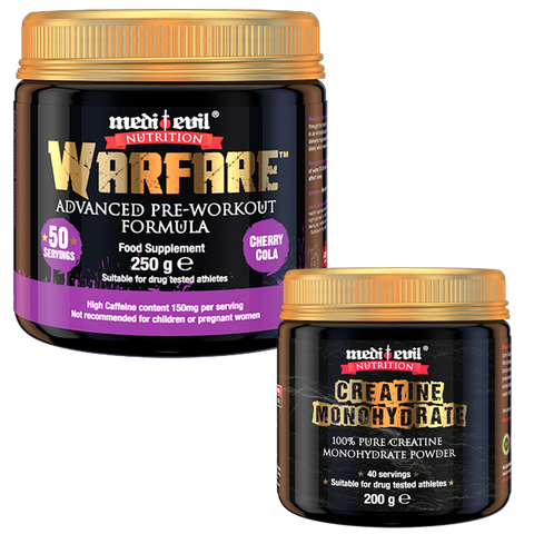 Medi Evil Warfare Pre Workout - Free 600g Creatine - gymstop