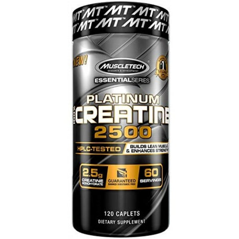 MuscleTech Platinum 100% Creatine 2500 120 Caps - gymstop