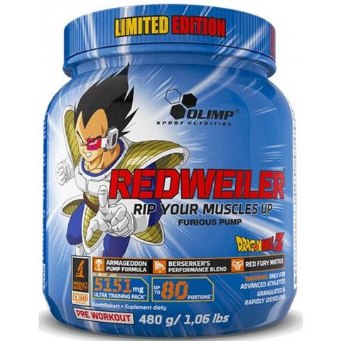 Olimp Nutrition RedWeiler Limited Edition Dragon Ball, Blueberry Madness  480g - gymstop