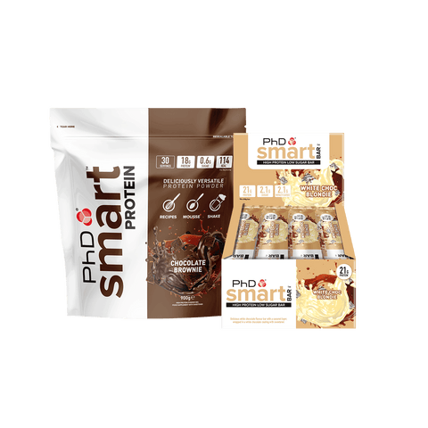 PhD Nutrition Smart Bundle - Smart Protein + Smart Protein Bars - gymstop