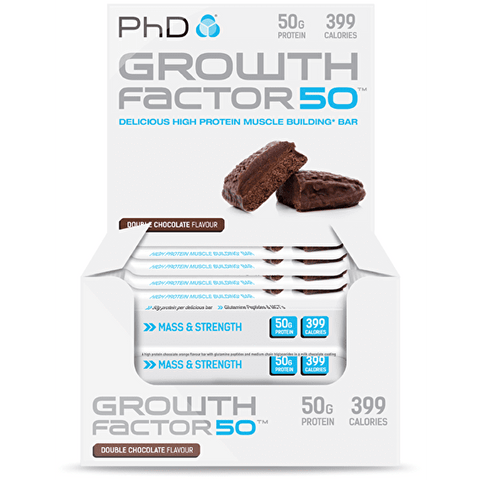 PhD Nutrition Growth Factor 50 Bars Box of 12 - gymstop