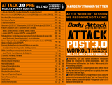 Body Attack Pre Attack 3.0 600g - gymstop