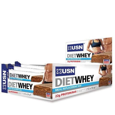 USN Diet Whey Bars 12 x 55g