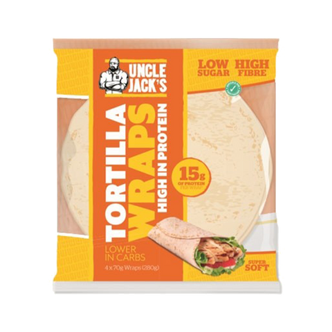 Uncle Jack's High Protein Tortilla Wraps - gymstop