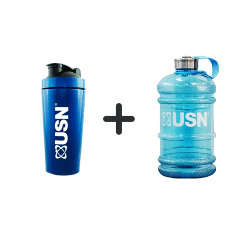 USN Jug 2.2L and 739ml Metal Shaker Bundle - gymstop