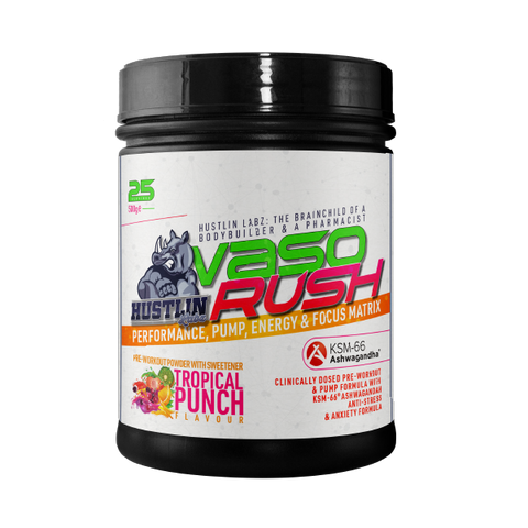 Hustlin Labz Vaso Rush Pre Workout 500g - gymstop