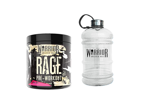 Warrior Rage 300g + Free 2.2L Jug