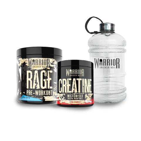 Warrior Rage, Creatine & 2.2L Jug Bundle