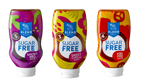 Blend Bros Sugar Free Sauce 5 x 250ml - gymstop