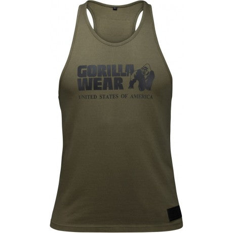 Gorilla Wear Classic Tank Top - Army Green - gymstop