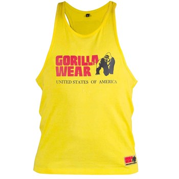 Gorilla Wear Classic Tank Top - Yellow - gymstop