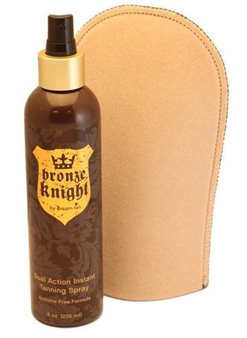 Dream Tan Bronze Knight Tanning Spray With Mitt - 236 ml - gymstop