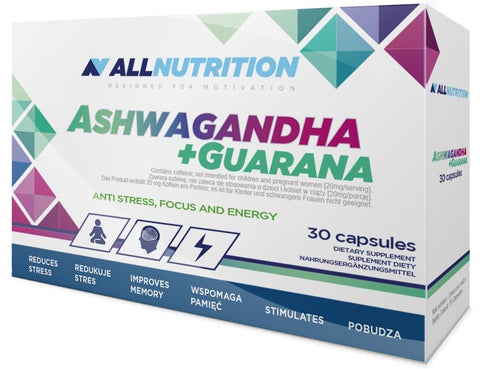 Allnutrition Ashwagandha + Guarana 30 Caps - gymstop