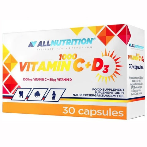 Allnutrition Vitamin C 1000 + D3 30 Caps