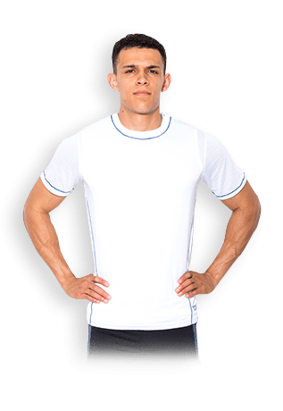 USN Mens Technical T-Shirt - White - gymstop