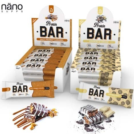 Nano Supps Protein Bar 12 x 58g - gymstop