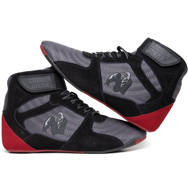 f95b169d062 Gorilla Wear Perry High Tops Pro - Grey/Black/Red – Gymstop.co.uk ...