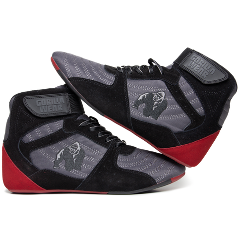 Gorilla Wear Perry High Tops Pro - Grey/Black/Red - gymstop