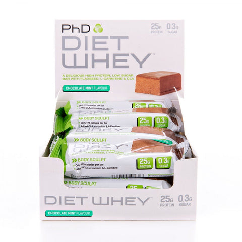 PhD Nutrition Diet Whey Bars Box of 12 - gymstop