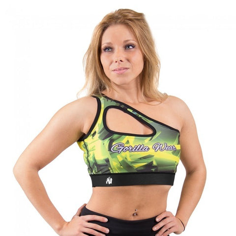 Gorilla Wear Reno Sports Bra - Yellow - gymstop