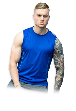 USN Mens Sleeveless Vest - Blue