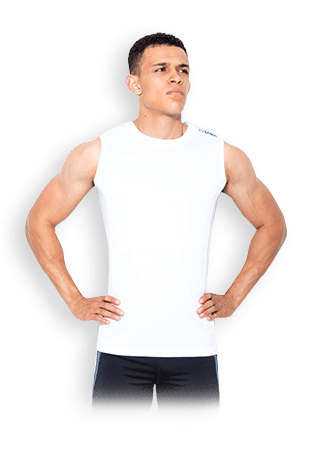 USN Mens Sleeveless Vest - White - gymstop