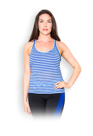 USN Women's Vest Top - Stripey