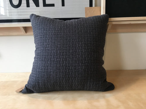 Navy Quilted Pillow 22x22
