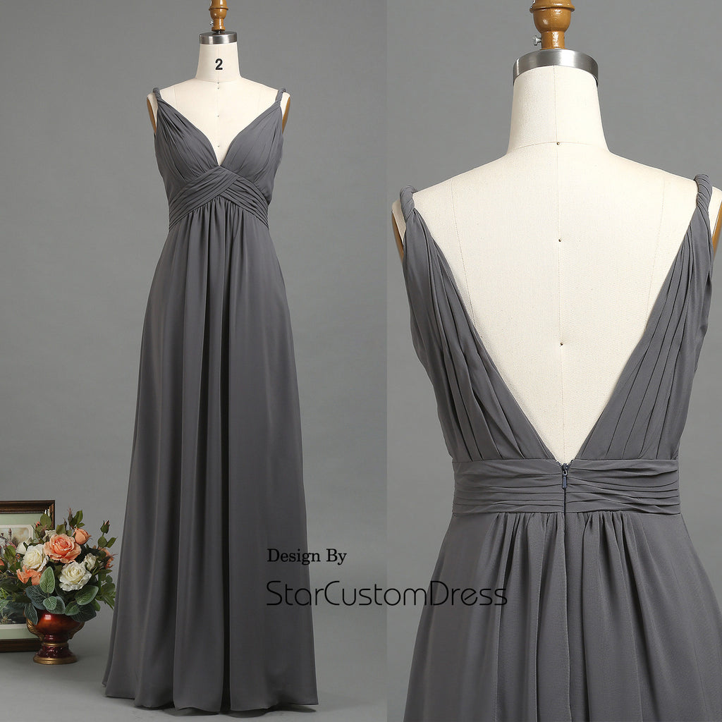 2017 light grey bridesmaid dresses lace cap sleeves wedding dress 2017 charcoal chiffon bridesmaid dress deep v neck prom dresses v back wedding dress ombrellifo Image collections
