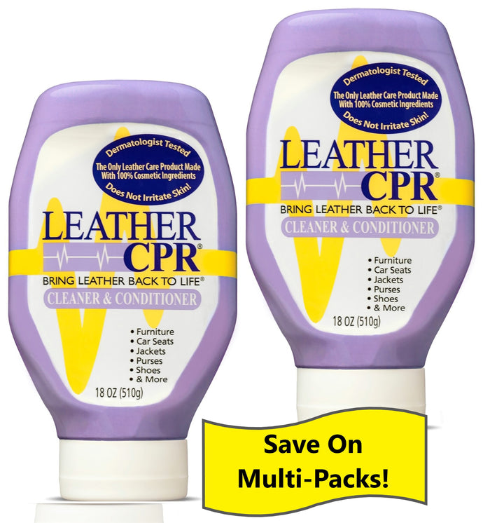 Leather CPR Cleaner & Conditioner 18oz - 2 Pack:  Save on the Value 2 Pack!