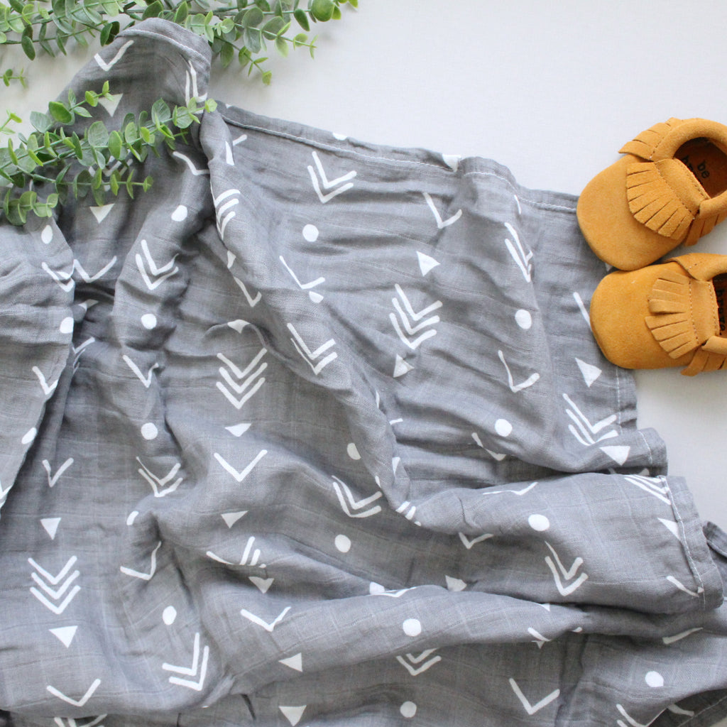 Gray Mudcloth Swaddle