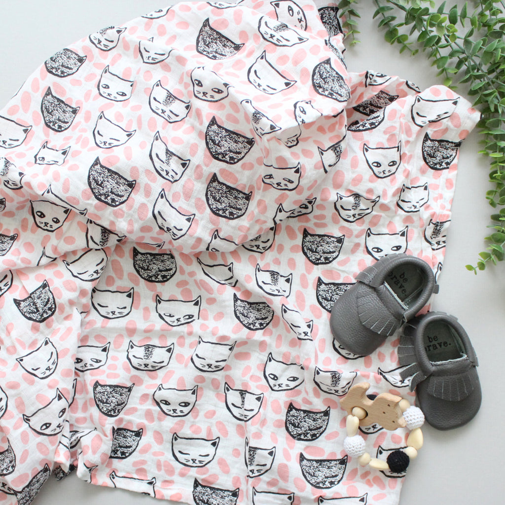 Pink Cat Swaddle