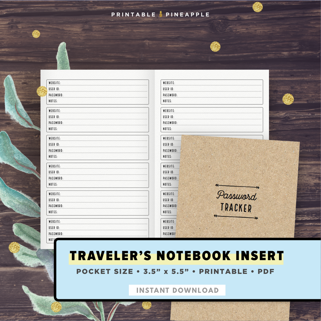 picture relating to Password Tracker Printable known as TN Pocket Pword Tracker, Printable