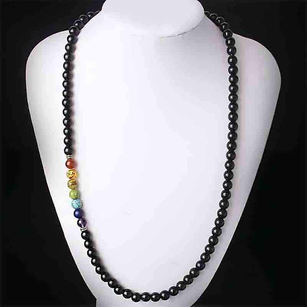 "Collana ""Chakra 7"" in onice"