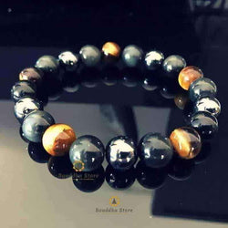 Pulsera Extreme Tiger Eye Protection y hematita obsidiana