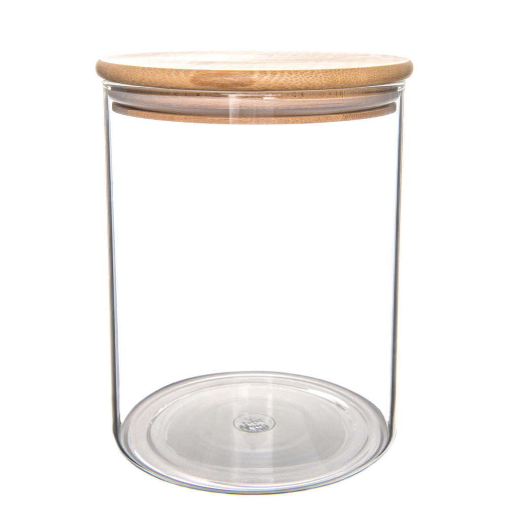 Bamboo/Glass Storage Jar 2L - Little Label Co