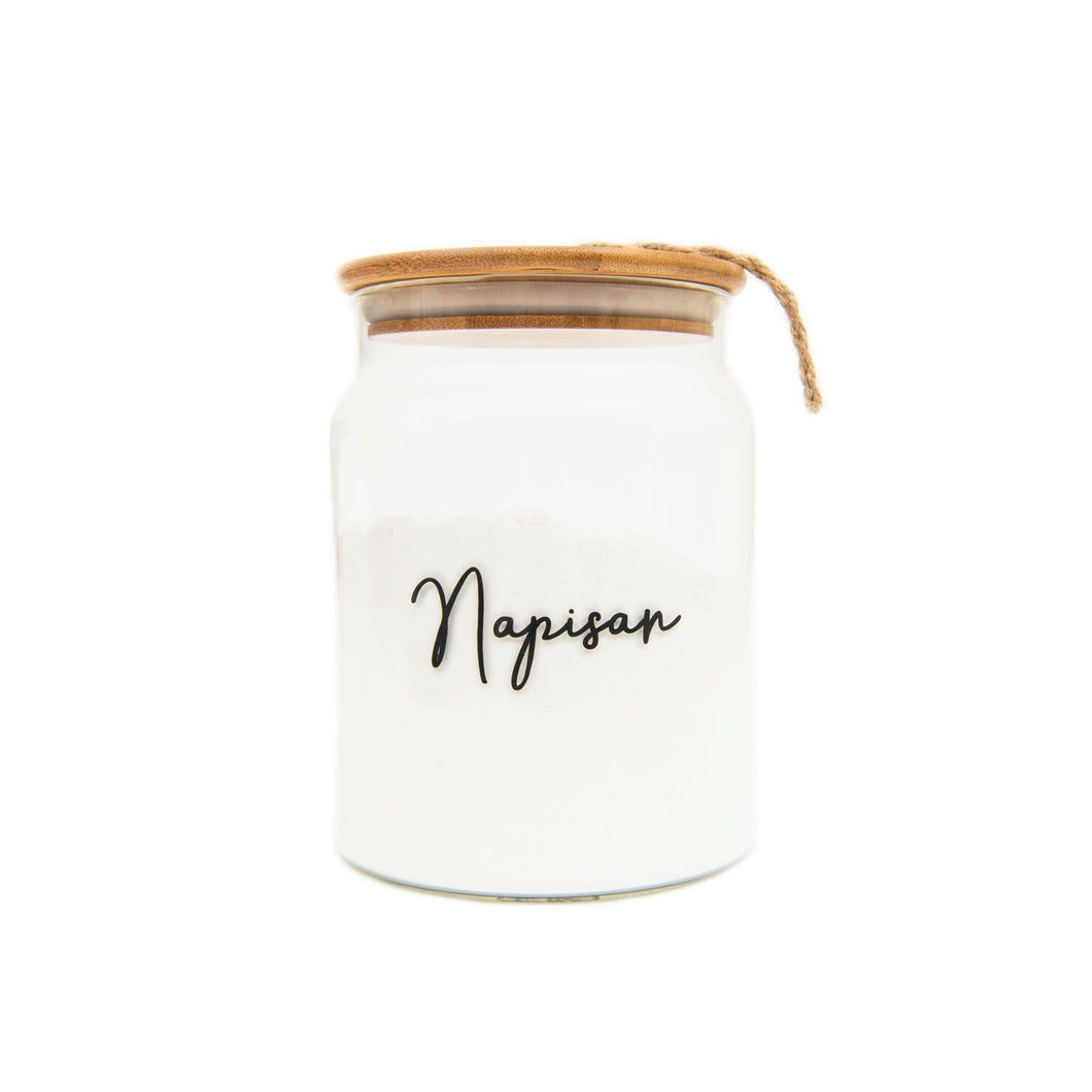Glass Jar with Bamboo/Twine 2L
