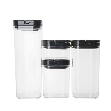 Black Flip Canister Value Pack x 4 (with FREE labels) - Little Label Co