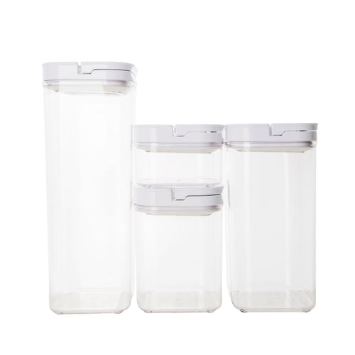 White Flip Canister Value Pack x 4 (with FREE labels)