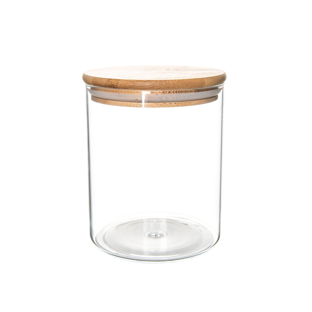 Bamboo/Glass Storage Jar 500ml - Little Label Co