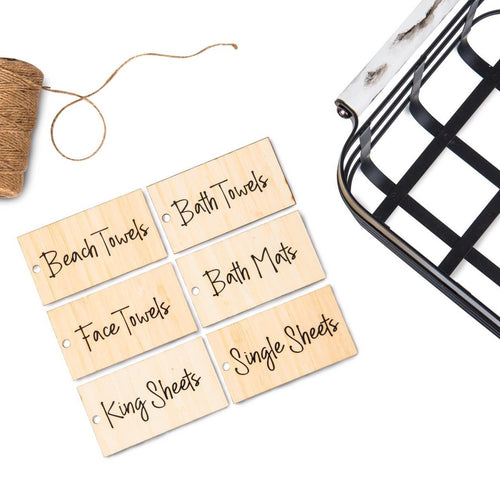 Swing Acrylic Tags (with label)