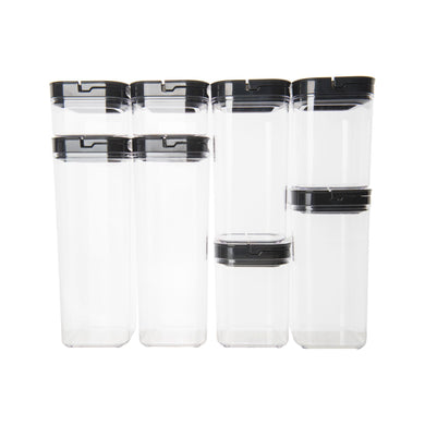 Black Flip Canister Value Pack x 8 (with FREE labels) - Little Label Co