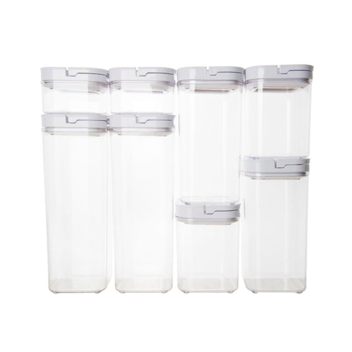 White Flip Canister Value Pack x 12 (with FREE labels)